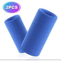 Hoter 6 Inch Long Thick Wristband/Sweatband for Tennis and Other Sports, 1PC/2PCS Pack