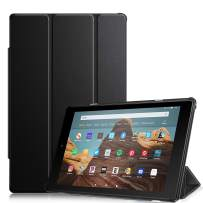 Fintie Slim Case for All-New Amazon Fire HD 10 Tablet (Compatible with 7th and 9th Generations, 2017 and 2019 Releases) - Ultra Lightweight Protective Stand Cover with Auto Wake/Sleep, Black