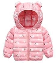 Unisex Kids Lightweight Down Cotton Cute Winter Coats Windproof Warm Jacket