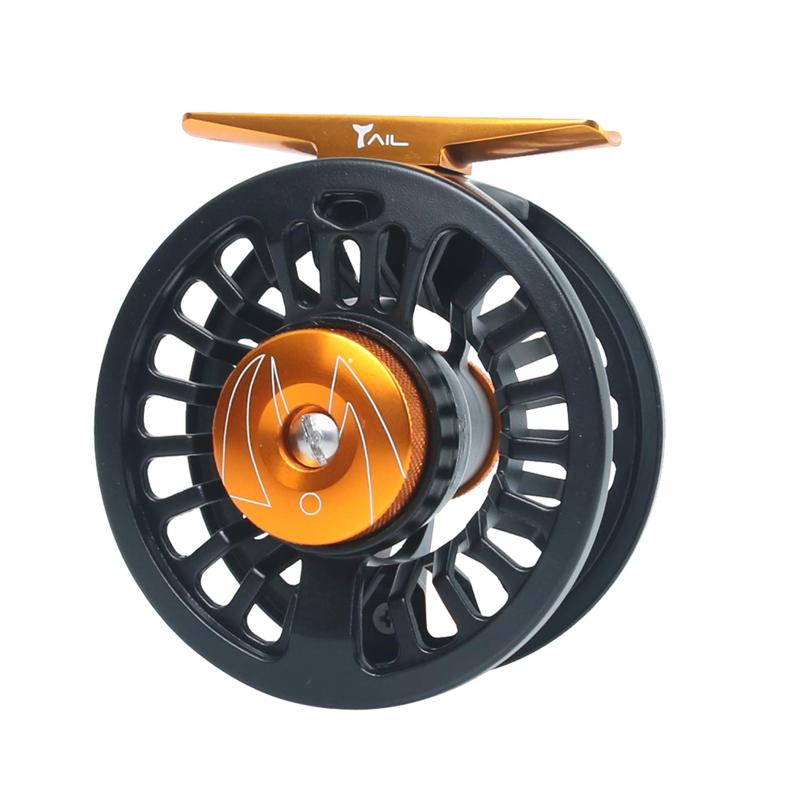 M MAXIMUMCATCH Maxcatch Tail Fly Fishing Reel Waterproof Light Weight Large Arbor Teflon Disc with CNC-machined Aluminum Alloy Body 5/6 7/8wt
