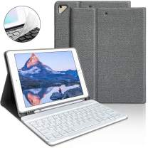 """iPad Keyboard Case 9.7 for iPad 2018 6th Gen iPad Pro 9.7"""" 2017 5th Gen iPad Air 2/Air 1-Wireless Bluetooth Keyboard- Multiple Angle Stand Honeycomb Cover with Pencil Holder(Gray)"""