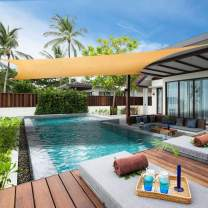 Lehood Sun Shade Sail 8'x 10' Rectangle Canopy Sail UV Block Sun Shade for Outdoor Patio Garden Backyard Sand Color