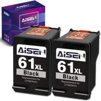 AISEN Remanufactured Ink Cartridge 61 Replacement for HP 61XL 61 XL Used in Envy 4500 5530 5535 Deskjet 1000 1056 1510 1512 1010 1055 2540 2542 3050 3510 3050A Officejet 2620 (2 Black)
