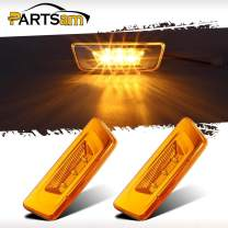 Partsam Replacement for Kenworth T680 T880 and Peterbilt 576 Amber Led Side Marker Turn Light 3-3014-SMD Sealed Replacement for Kenworth Trucks Led Rectangular Cab Roof Marker Lights Lamps (Pack of 2)
