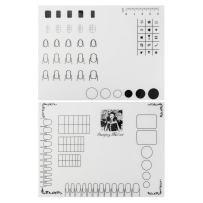 2pcs Nail Art Stamping Mats, Silicone Workspace Stamping Plate Manicure Mat, Nail Polish Coloring Practice Pad, Nail Sticker Guide Printing Transfer Table Cover Palette Tools