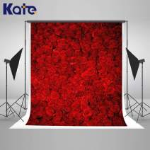 Kate 6.5x10ft Valentine's Day Backdrop Red Rose Wedding Photography Backdrop Floral Bridal Party Decorations Photo Booth Props