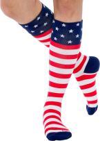 LISH American Flag Patriotic Compression - Graduated 15-25mmHG Knee Socks