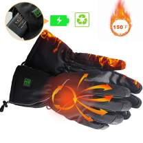 kamlif Heated Gloves Winter Warm Gloves Cycling Hiking Skiing Mountaineering Motorcycle Gloves for Man with 2600mA Rechargeable Li-ion Battery Christmas Thanksgiving Gift