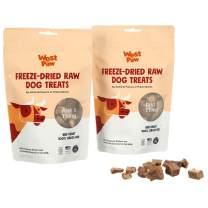 West Paw Freeze-Dried Raw All Natural Dog and Puppy Training Treats, Single Ingredient, Humanely Raised and Sustainably Sourced, Made in USA, Beef Heart, 2 Pack
