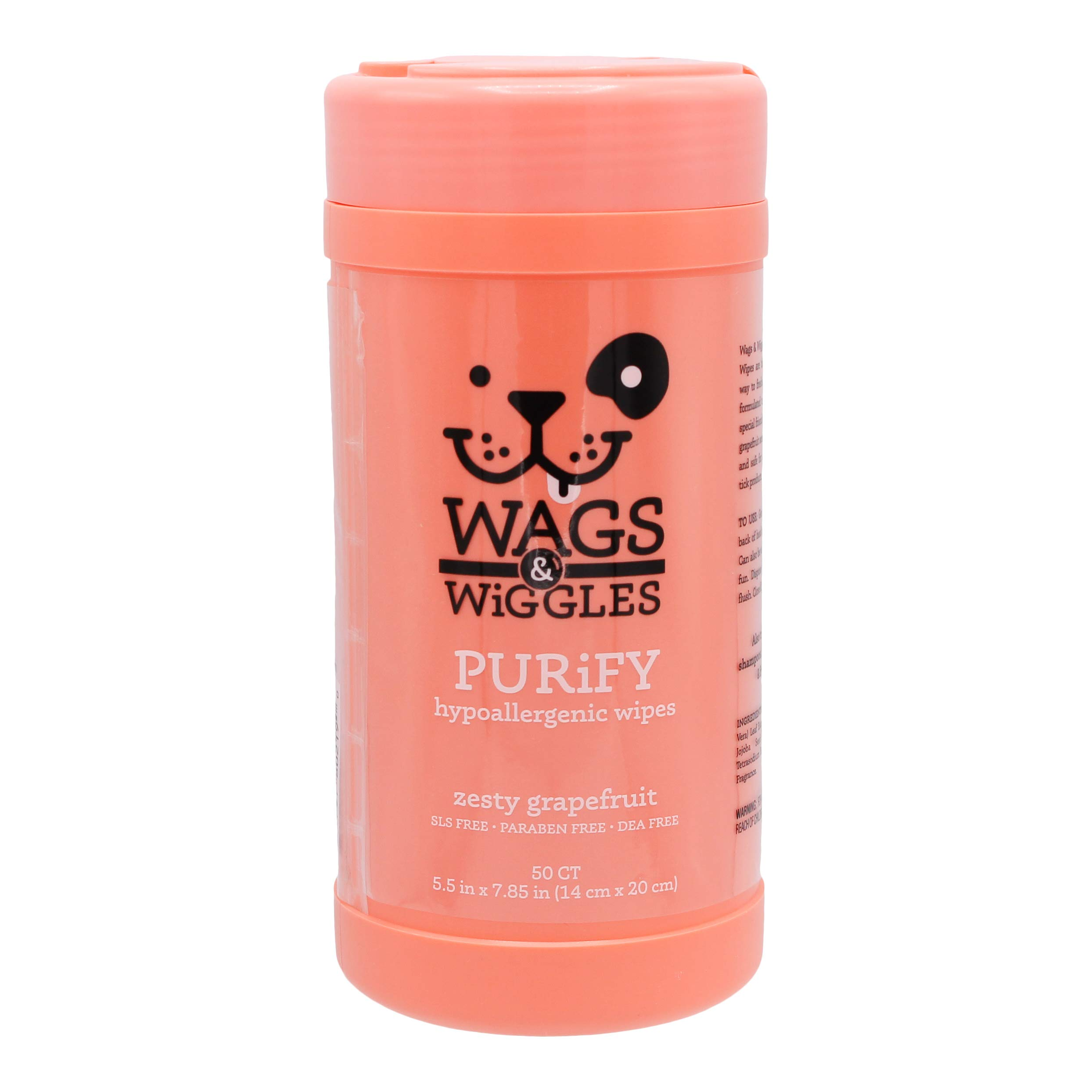 """Wags & Wiggles Purify Hypoallergenic Wipes for Dogs 