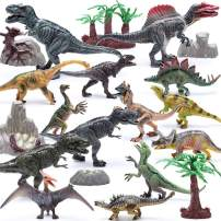 "Hely Cancy 21 Packs Dinosaur Toys for Boys and Girls 3 Years Old & Up, 4"" to 9"" Realistic Educational Dino Figures Sets with Movable Claws for Birthday, Party Favor"