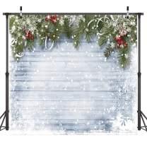 Dudaacvt 10x10ft Christmas Photography Backdrops Wooden Wall White Snow Backdrop Christmas Decoration Backdrops D219