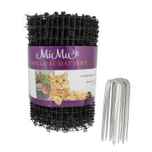 MiMu Dog & Cat Deterrent Mat Outdoor & Indoor Cat Scat Spike Mat Cat Repellent Spikes - Continuous Roll in Black