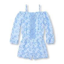 The Children's Place Girls' Long Sleeve Romper
