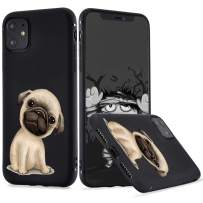 LuGeKe Pug Dog Phone Case for iPhone 11 Pro, Puppy Patterned Dog Design Case Cover,Soft TPU Cover Flexible Ultra Slim Anti-Stratch Bumper Protective Boys Phonecase(Pup Dog)