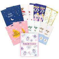 FaceTory Seasons Sheet Mask Essentials Box for Winter- Moisturizing, Smoothing, Dewy, Radiance Boost, Soothing