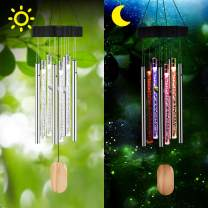 GoLine Solar Lights Wind Chimes,Garden Gifts for Mom Mother Day Women Grandma, Memorial Solar Powered Windchimes for Outdoors Garden Patio Yard Decor,Solar Decoration Color Changing Lights.