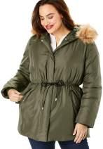 Roaman's Women's Plus Size Anorak Puffer Coat