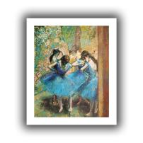 ArtWall Edgar Degas 'Dancers in Blue' Unwrapped Canvas, Flat 24x28, image: 20x24