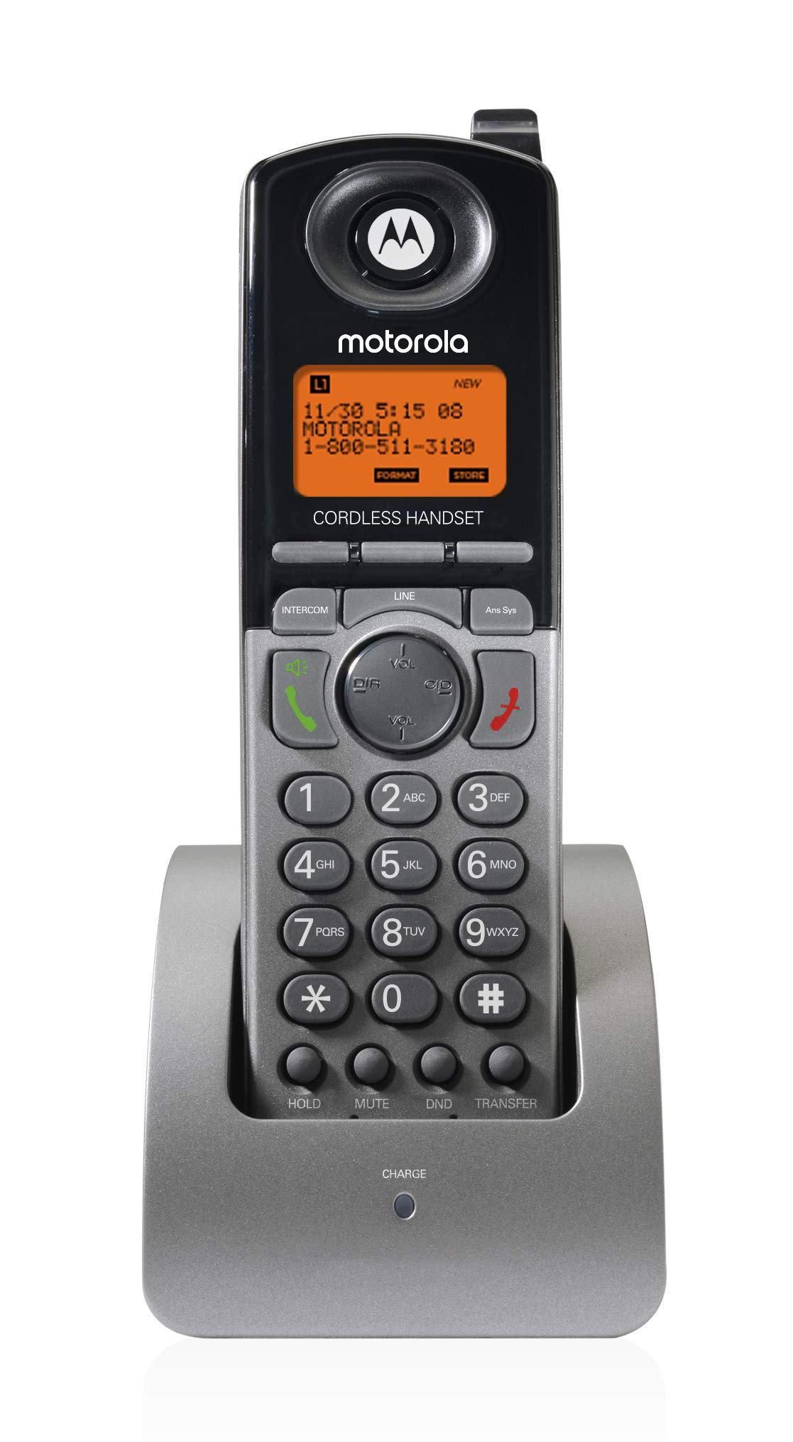 Motorola ML1200 DECT 6.0 Expandable 4-line Business Phone System with Voicemail, Digital Receptionist and Music on Hold, Black,