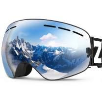 ZIONOR X Ski Goggles - OTG Snowboard Goggles Detachable Lens for Men Women Adult