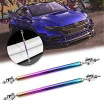 Xotic Tech NEO Aluminum Chrome Front Bumper Lip Splitter Diffuser Spoiler Strut Rod Tie Support Bar Universal (Adjustable 8''-11'')