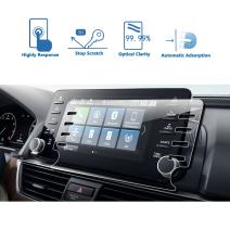 LFOTPP 2018 2019 Accord EX EX-L Touring EX-L 8-Inch Car Navigation Screen Protector, Clear Tempered Glass Infotainment Stereo Display in-Dash Center Touch Screen Protector