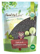 Organic Black Sesame Seeds (Raw, Unhulled, Non-GMO, Kosher, Vegan, Bulk, Kala Til) — 8 Ounces