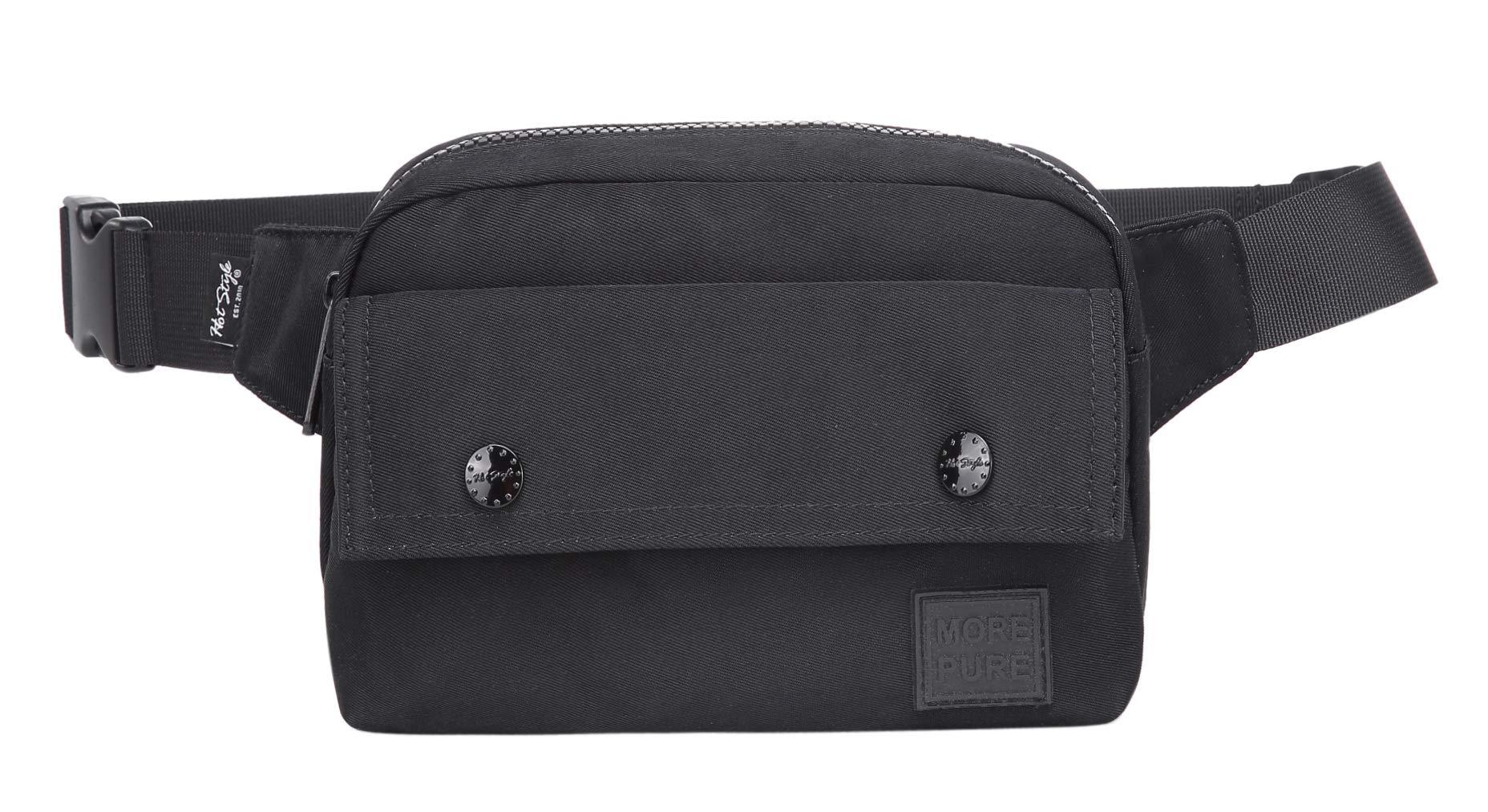 MORE PURE 533s Cute Fanny Pack Classic Waist Bag, Black