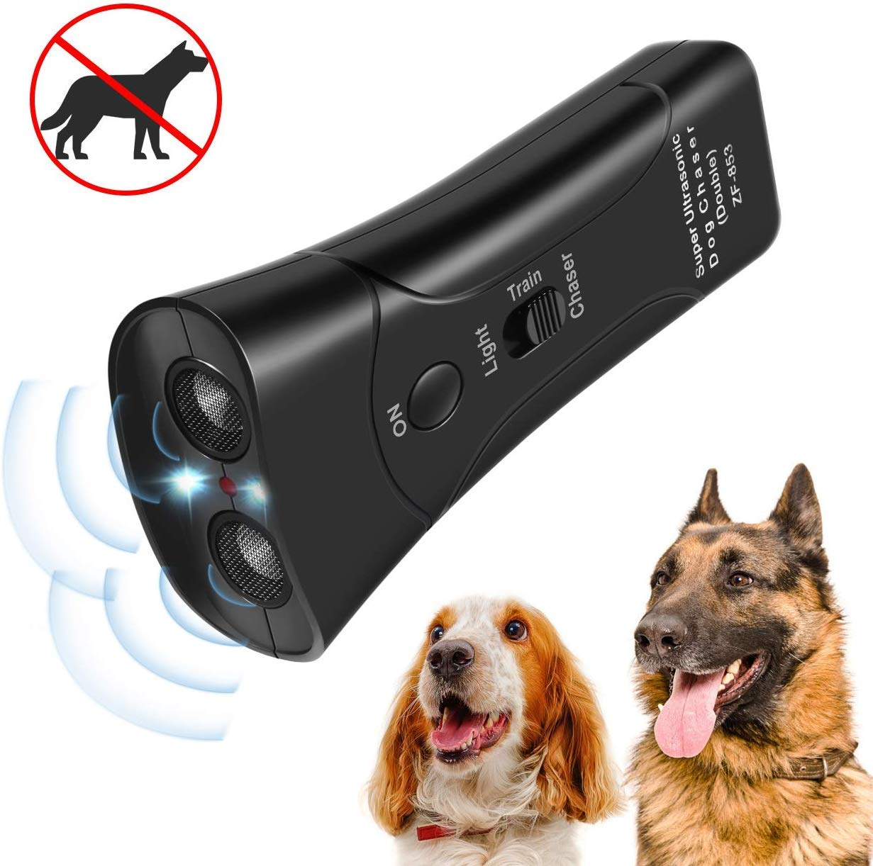 Zomma Handheld Dog Repellent, Ultrasonic Infrared Dog Deterrent, Bark Stopper + Good Behavior Dog Training