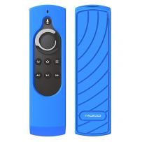 """MoKo Silicone Remote Case Compatible with 5.9"""" Fire TV Stick 2016 Release with Alexa Voice Remote Control (1st Gen), [Anti-Slip] Shockproof Protective Cover Case - Blue"""