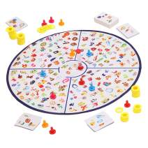 Matching Board Games for Kids and Family, Search, Find and Match Detective Mat for Toddlers and Preschoolers, Large Memory, Learning and Educational Toy, Gifts for Boys & Girls 3 and up
