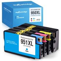 myCartridge Compatible Ink Cartridges Replacement for HP 950XL 951XL (Black Cyan Magenta Yellow,4-Pack) High Yield Fit OfficeJet Pro 8610 8600 8620 8630 8100 251dw 8615 8625