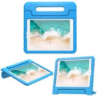 """MoKo Case Fit New iPad 7th Generation 10.2"""" 2019 / iPad 10.2 Case/New iPad Air (3rd Generation) 10.5"""" 2019 / iPad Pro 10.5 2017, Kids Friendly Shock Proof Handle Protective Stand Cover Case - Blue"""