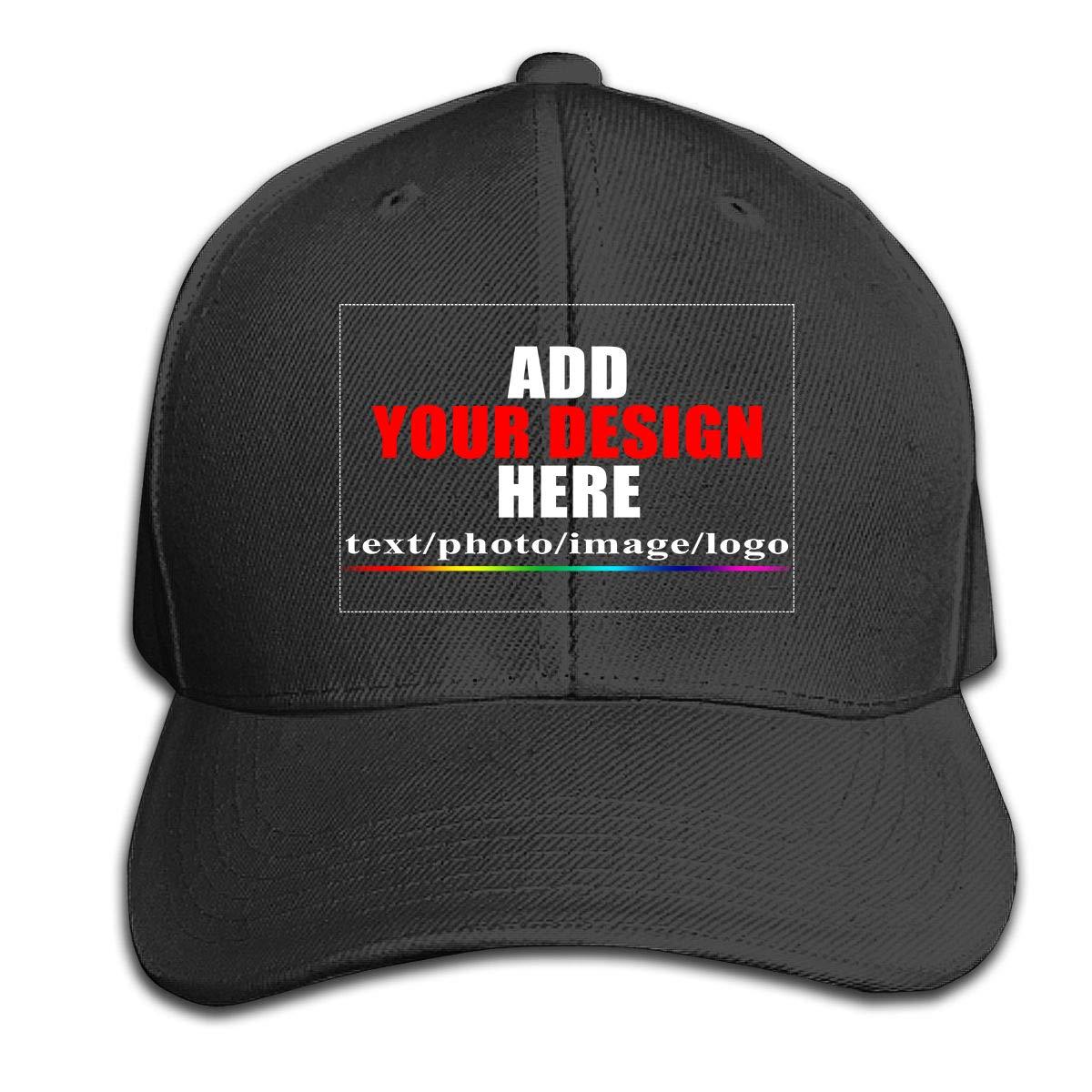 Custom Baseball Caps, Design Your Own Hat, Team Photo Text Logo Graphic Print
