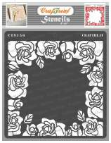 CrafTreat Flower Stencils for Painting on Wood, Canvas, Paper, Fabric, Floor, Wall and Tile - Roses All Around - 6x6 Inches - Reusable DIY Art and Craft Stencils for Painting Flowers- Rose Stencil