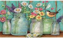 DIY 5D Diamond Painting Kit, BENBO 15.8x11.8In Full Drill Daisy Diamond Painting by Numbers Round Diamond Embroidery Kit Cross Stitch Flower Rhinestone Embroidery Pictures Arts Craft for Adults
