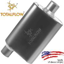 "TOTALFLOW 415441 Two-Chamber Universal Muffler - 2.25"" Offset In / 2.25"" Center Out"