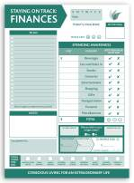 Finance Planning Pad by InnerGuide - 90 Day - 6.5 x 9 - Green - Finance Planner