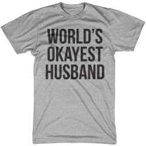Crazy Dog T-Shirts Mens Worlds Okayest Husband T Shirt Funny Hilarious Gift for Dad Sarcastic