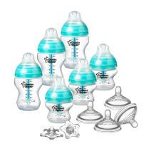 Tommee Tippee Advanced Anti-Colic Newborn Baby Bottle Feeding Set, Heat Sensing Technology, BPA-Free