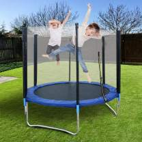 𝒯rampolines for Kids, Family 5-12 Ft Foot 𝒯rampoline with Safety Enclosure Net with Spring Cover Padding 𝒯rampoline