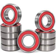 10 PCS 6205-2RS Ball Bearing 25x52x15mm Dual Sided Rubber Sealed Deep Groove Ball Bearings for Agricultural Machinery, Elevators, Robotics, Dental Equipment, Rolling Mills and More