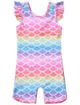 QPANCY Girls Swimsuits Unicorn Bathing Suits Toddler Kids One Piece Swimwear