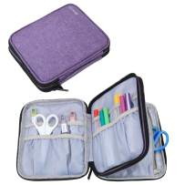 Yarwo Carrying Bag for Cricut Accessories, Organizer Case for Cricut Pen Set and Basic Tool Set Storage, Purple Color, Bag Only