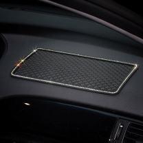 MLOVESIE Glitter Bling Crystal Anti-Slip Phone Hold Dashboard Sticky Pad Non-Slip Mat