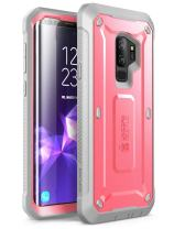 SUPCASE Unicorn Beetle Pro Series Case Designed for Samsung Galaxy S9+ Plus, with Built-In Screen Protector Full-body Rugged Holster Case for Galaxy S9+ Plus (2018 Release) (Pink)