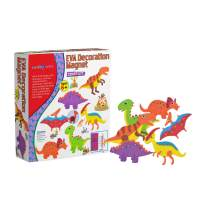 SadoCrafts EVA Decoration Magnet Kit - Fun, Interactive, Educational and DIY Dinosaur Magnet Kit for Kids Ages 6 and Above