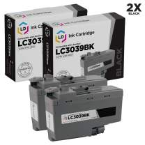 LD Compatible Ink Cartridge Replacements for Brother LC3039BK Ultra High Yield (Black, 2-Pack)