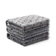 luciphia 1 Pack 3 Blankets Super Soft Cute Dot Pattern Pet Blanket Flannel Throw for Dog Puppy Cat Dot
